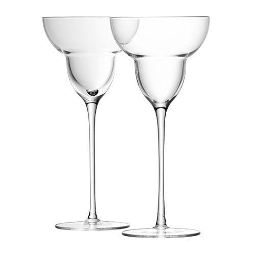 LSA Bar Margarita Glass Set Of Two