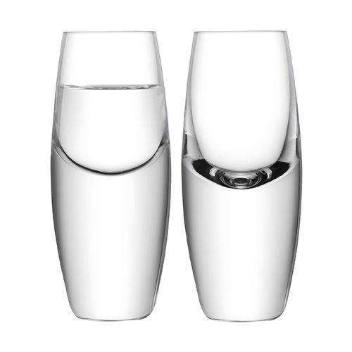 LSA Bullet Vodka Glass 70ml Clear Set Of 2
