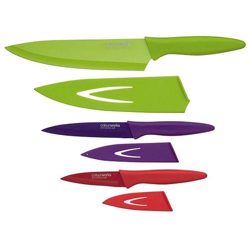 Colourworks Soft Grip Three Piece Knife Set