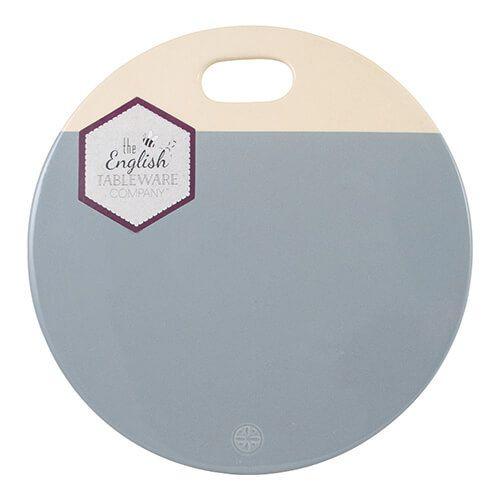 English Tableware Company Artisan Blue Ceramic Serving & Chopping Plate