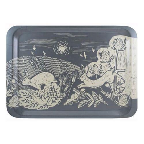 English Tableware Company Artisan Blue Hare Large Rectangle Tray