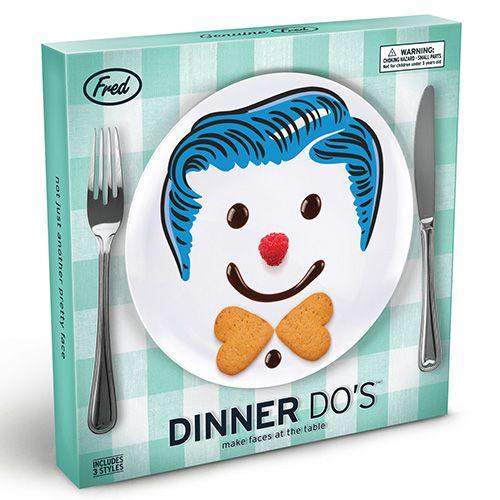 Fred Dinner Do's Boys Childrens Set Of 3 Dinner Plate