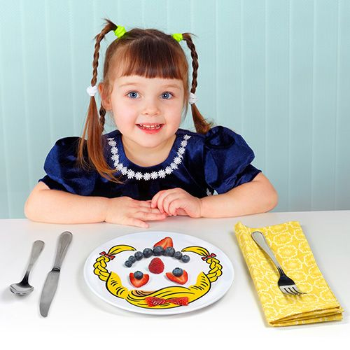 Fred Dinner Do's Girls Childrens Set Of 3 Dinner Plate
