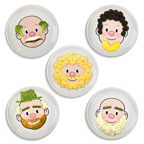 Fred Mr Food Face Childrens Dinner Plate