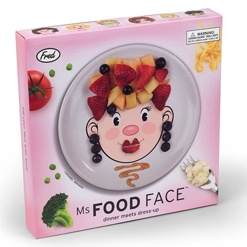 Fred Ms Food Face Childrens Dinner Plate