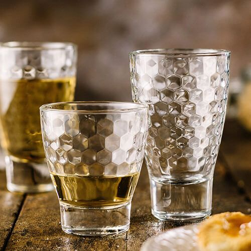Durobor iStyle Luxe Honeycomb Set Of 6 Hiball Glasses