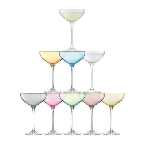 LSA Tower Champagne Saucer Set Assorted 10 Piece