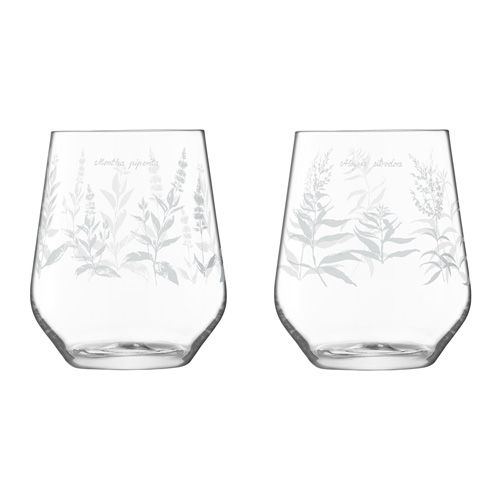 LSA Royal Botanical Gardens Kew Tumbler Glass 450ml Assorted Set of 4