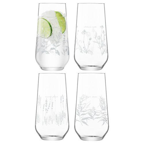 LSA Royal Botanical Gardens Kew Highball Glass 525ml Assorted Set of 4