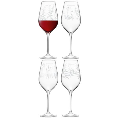 LSA Royal Botanical Gardens Kew Red Wine Glass 500ml Assorted Set of 4