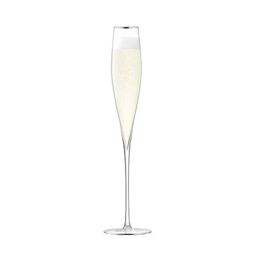 LSA Celebrate Platinum Champagne Flute 200ml Set Of 2