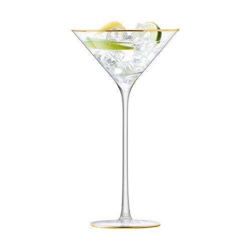 LSA Celebrate Gold Cocktail Glass 225ml Set Of 2