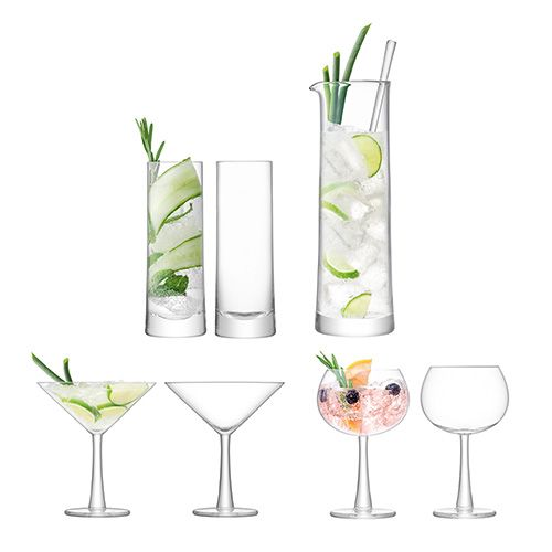 LSA Gin Cocktail Set Clear