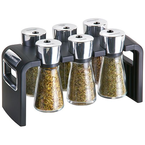 Cole Mason Herb Spice Rack 6 Jar Includes Spices Harts Of Stur