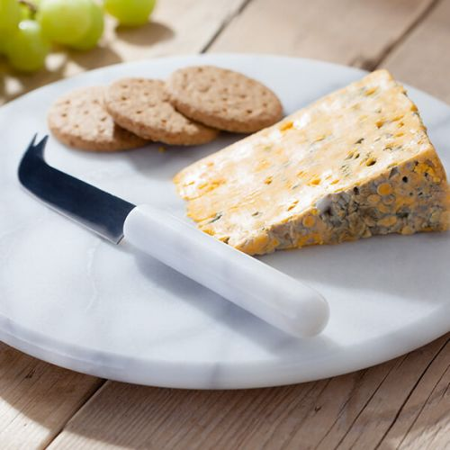 """Judge White Marble Cheese Board & Knife 26cm/10"""""""
