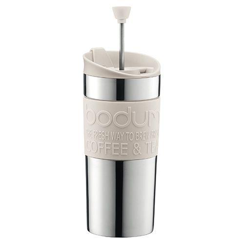 Bodum Stainless Steel Travel Press Set Off White
