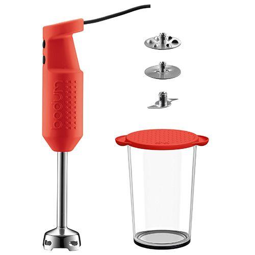 Bodum Bistro Stick Blender Set Red