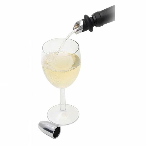 BarCraft Chromed Wine Pourer & Stopper