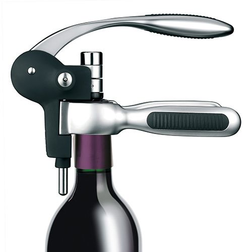 BarCraft Connoisseur Deluxe Lever-Arm Corkscrew Gift Set With Stopper