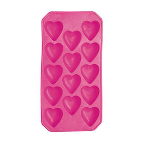 BarCraft Mix It Flexible Heart Shape Ice Cube Tray