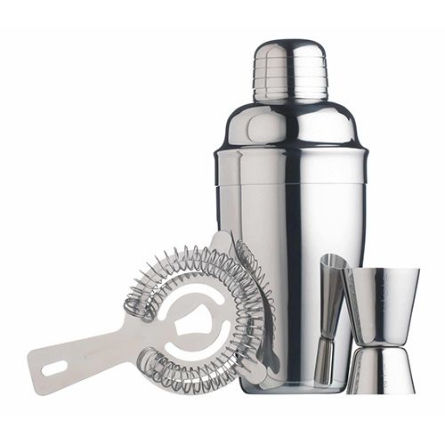 BarCraft 3 Piece Stainless Steel Cocktail Set