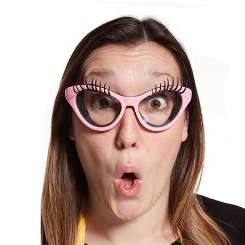 Fred Pink Kitchen Diva Eyelash Onion Glasses