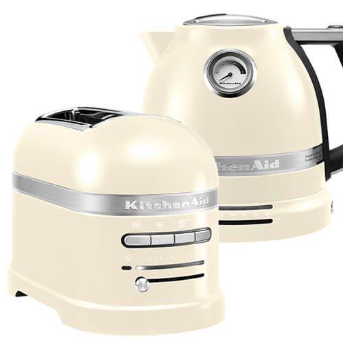 Kitchenaid Artisan Almond Cream 2 Slot Toaster And Kettle Set