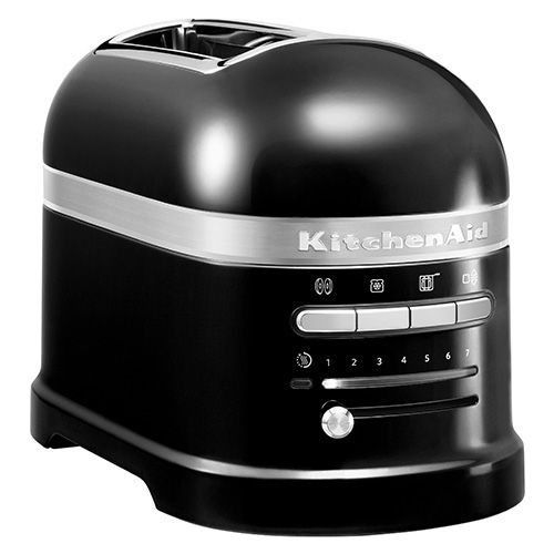 Black Kitchenaid Toaster: KitchenAid Artisan Onyx Black 2 Slot Toaster And Kettle Set