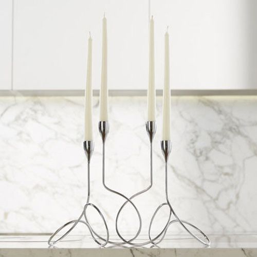 Black + Blum Loop Chrome Candelabra