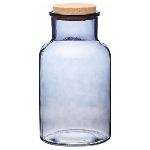 Natural Elements Large Glass Storage Jar With Cork Lid Harts Of Stur