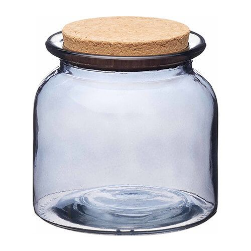 Natural Elements Medium Glass Storage Jar With Cork Lid Harts Of Stur