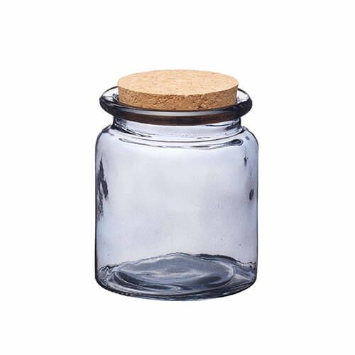 Natural Elements Small Glass Storage Jar With Cork Lid Harts Of Stur