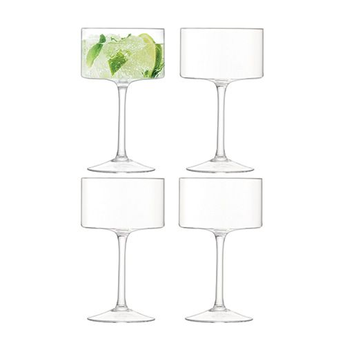 LSA Otis Champagne/Cocktail Glasses 280ml Set Of 4