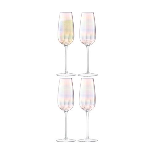 LSA Pearl Champagne Flute 250ml Set Of 4