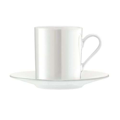 LSA Pearl Espresso Cup & Saucer 100ml Set Of 4
