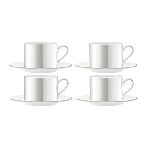 LSA Pearl Tea/Coffee Cup & Saucer 250ml Set Of 4 | Harts of Stur