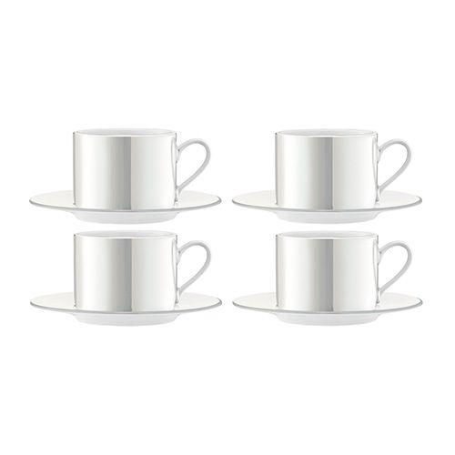 LSA Pearl Tea / Coffee Cup & Saucer 250ml Set Of 4