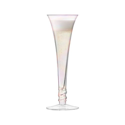 LSA Prosecco Flute 140ml Mother Of Pearl Set Of 4