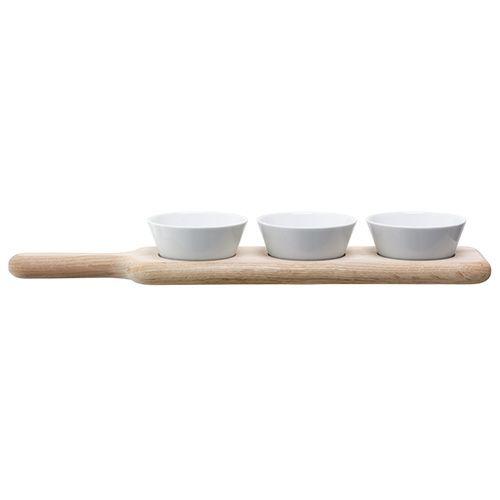 LSA Paddle Bowl Set & Oak Paddle 40cm