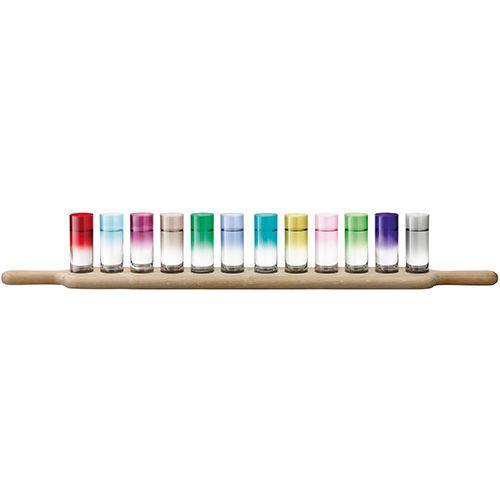 LSA Paddle Grand Vodka Set & Oak Paddle 77cm Assorted Colours