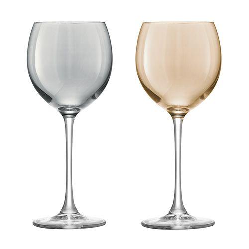 LSA Polka Metallics Wine Glass 400ml Set Of Four