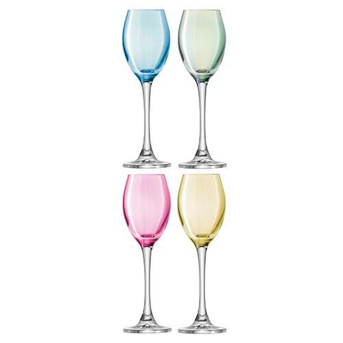 LSA Polka Pastel Liqueur Glass 70ml Set Of Four