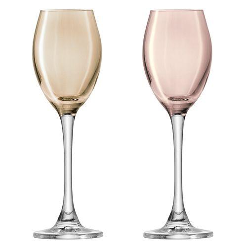 LSA Polka Metallics Liqueur Glass 70ml Set Of Four