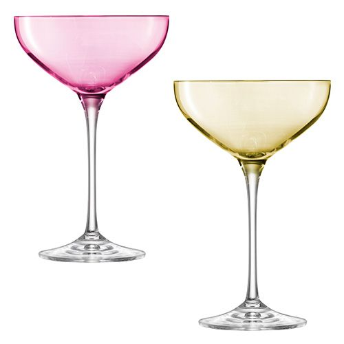 LSA Polka Pastel Champagne Saucer 390ml Set Of Four