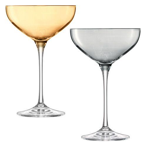 LSA Polka Metallics Champagne Saucer 390ml Set Of Four