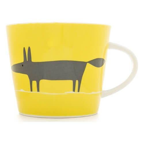 Scion Living Mr Fox Yellow & Charcoal 350ml Mug