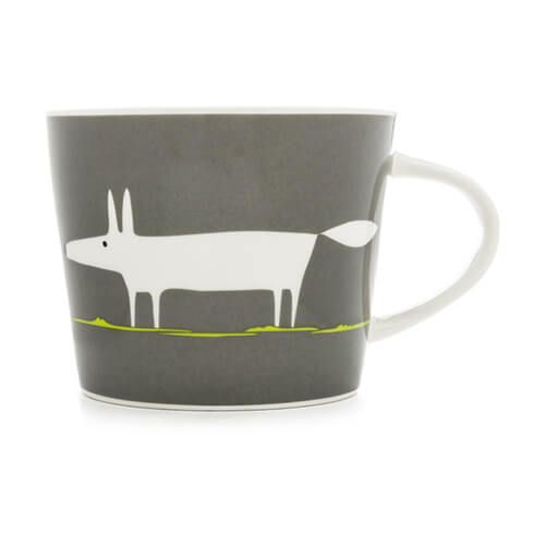 Scion Living Mr Fox Charcoal & Lime 250ml Mini Mug