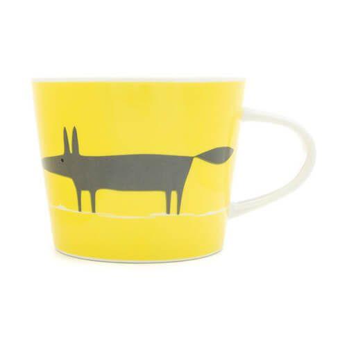 Scion Living Mr Fox Yellow & Charcoal 250ml Mini Mug