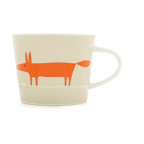 Scion Living Mr Fox Neutral & Orange 250ml Mini Mug