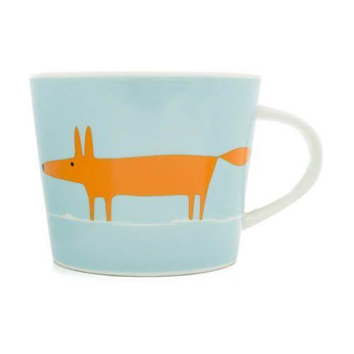 Scion Living Mr Fox Duck Egg & Orange 250ml Mini Mug